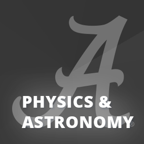 Capstone A logo behind Physics and Astronomy text