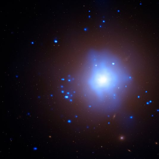 a bright blue and white galaxy