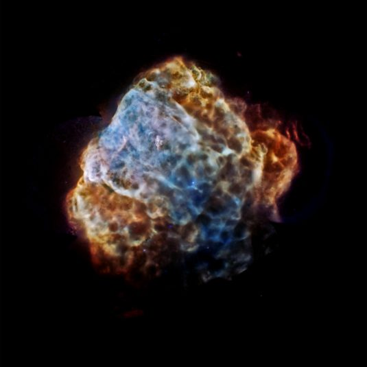 remnants of a supernova