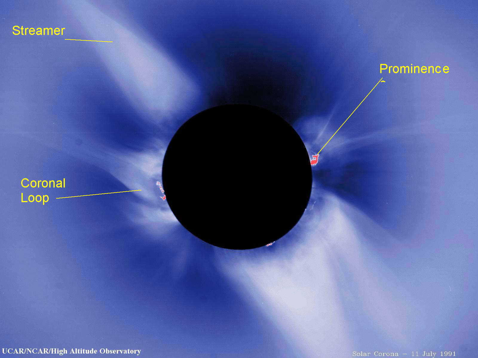 corona surrounding sun that's masked by disk