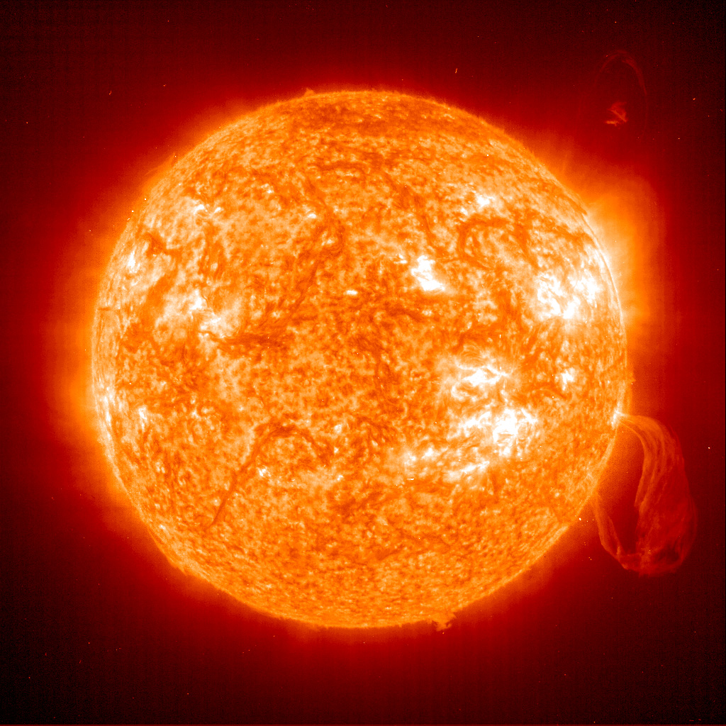 Image of sun through telescope