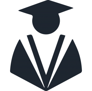icon of a graduate in cap and gown