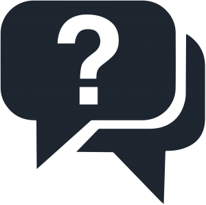 icon of a question mark in a speech bubble