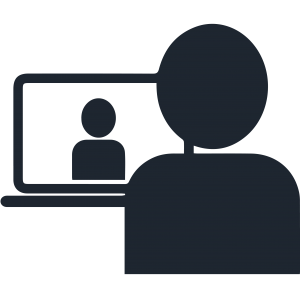 icon of person on a video conference call